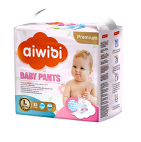 Aiwibi baby pants factory direct waterproof nappies with breathable backsheet