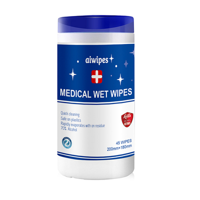 Aiwipes 70% Alcohol Medical Sanitizing Wet Wipes In Canister